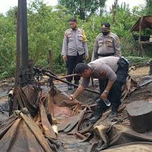 Razia Ilegal Drilling, Petugas Musnahkan 42 Sumur Minyak