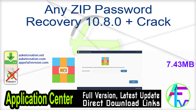 Any ZIP Password Recovery 10.8.0 + Crack