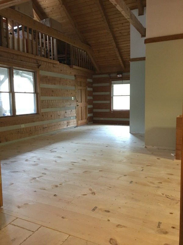 Hood Creek Log Cabin: DIY Wide Plank Pine Floors [Part 1