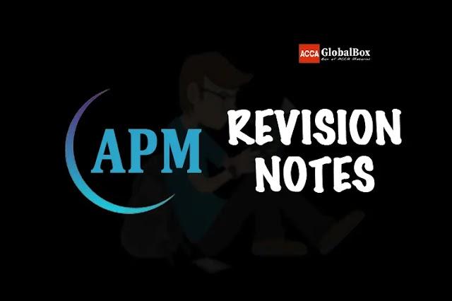 P5 (APM) | Revision Notes | Advanced Performance Management | ACCA