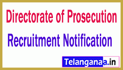Directorate of Prosecution Recruitment Notification