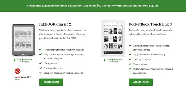 InkBOOK Classsic 2 i PocketBook Touch Lux 3
