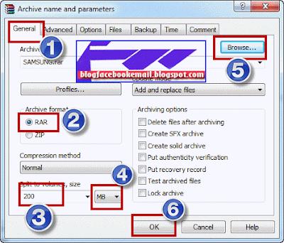 cara membagi file  dengan rar menjadi part1 part 2 dan seterusnya