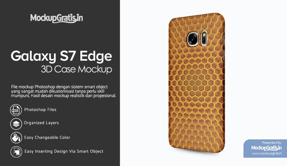 Mockup Gratis SAMSUNG Galaxy S7 Edge Custom Case 3D