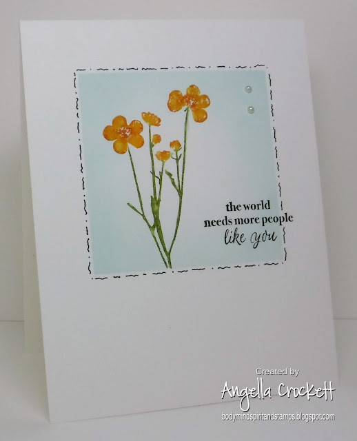 Stampin Up Pressed Flowers and Part of My Story; Card Designer Angie Crockett