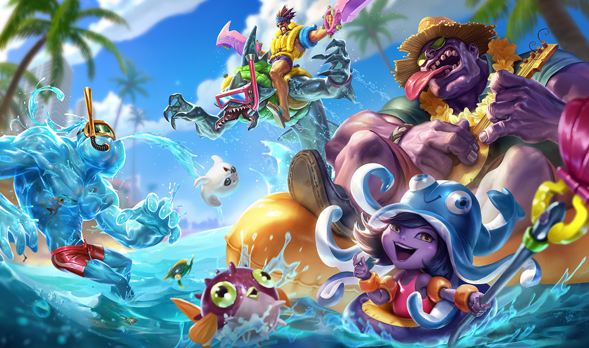 Surrender At 20 616 Pbe Update Pool Party Splash New Summoner