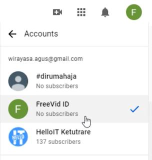 Cara Membuat Dua (2) atau Banyak Channel YouTube dalam Satu (1) Akun