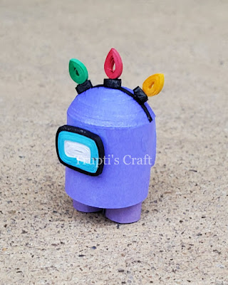 Paper Quilling Among Us Character with Lights Hat