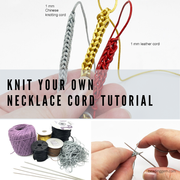how to knit your own cord necklace tutorial
