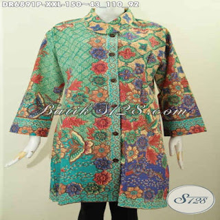 blus batik modern semi formal
