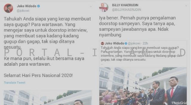 Testimoni Doorstop Jokowi, Wartawan Kompas: Ditanya Apa, Jawabnya Apa. Tidak Nyambung