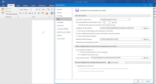 Recover Unsaved Microsoft Word Documents