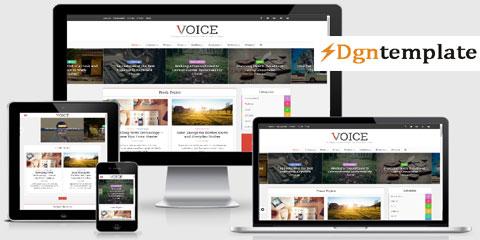Voice Premium Responsive Blogger Template-dgntemplate