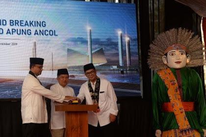 JK dan Gubernur Anies Resmikan Masjid Terapung di Pantai Wisata Ancol