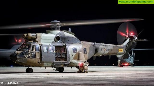 El batallón de helicópteros y maniobras Nº VI realizará vuelos nocturnos de instrucción en La Palma