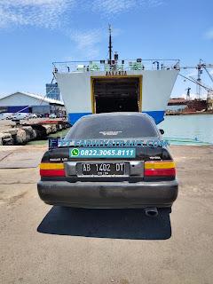 Pengiriman Mobil Toyota Corolla dari Banjarmasin tujuan ke Yogyakarta, melalui Pelabuhan Tanjung Perak Surabaya dengan kapal roro dan driving, estimasi perjalanan 2 hari..
