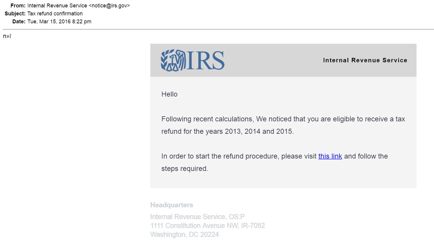 Irs Filing: Irs Filing Address 2016