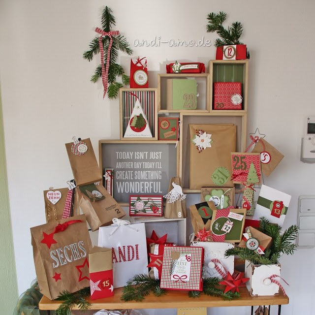 Adventskalender im Team andi-amo Stampin Up