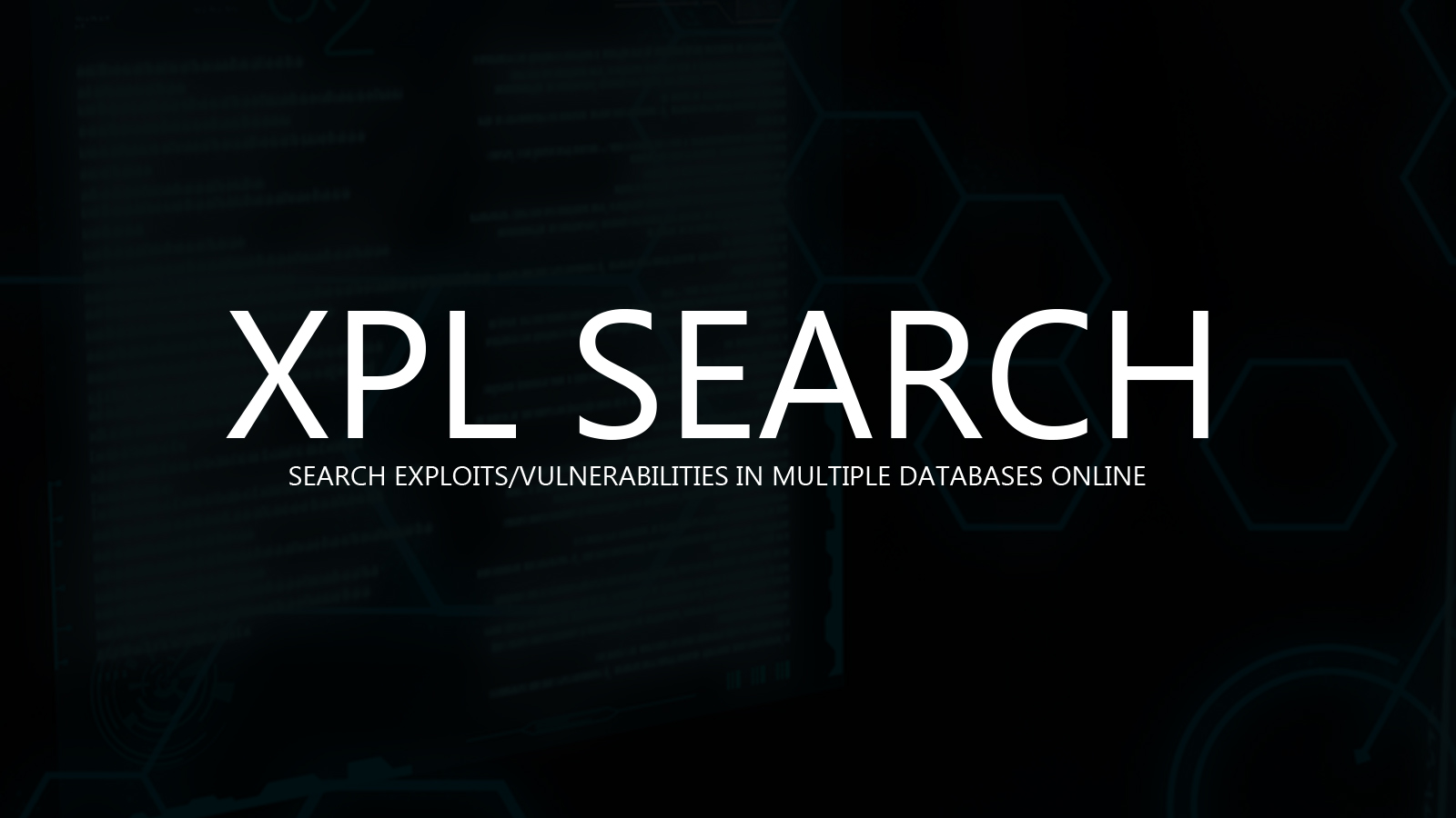 XPL SEARCH - Search Exploits/Vulnerabilities In Multiple Databases Online