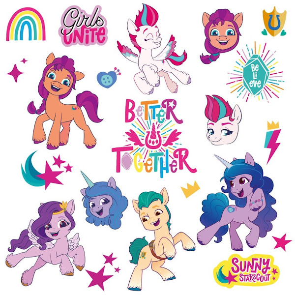 Generation 5 My Little Pony Sticker Sheet 2D Vectors