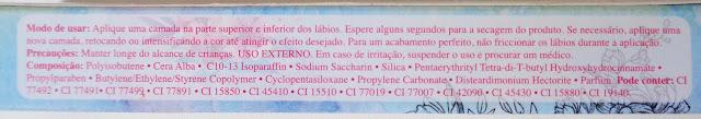 BATOM LÍQUIDO MATTE VICTÓRIA DA LINHA BRUNA TAVARES
