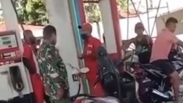 Viral Video Oknum TNI Tempeleng Petugas SPBU Waipare