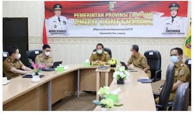 Gubernur Arinal Ikuti Webinar dan Peluncuran Aksi Pencegahan Korupsi Tahun 2021-2022