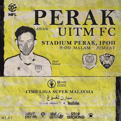 Jangan Lupa ! Live Streaming Perak vs Uitm Fc Liga Super 11.9.2020