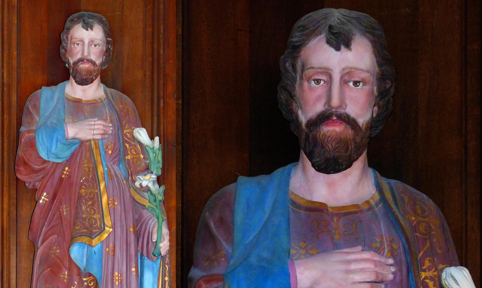 Photo Statue Jospeh - Hospice d'Havré, Tourcoing - Chapelle