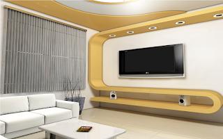 تصميم ثري دي 3D لـ غرف التلفزيون