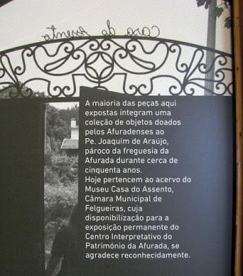 Painel expositivo do Centro Interpretativo da Afurada