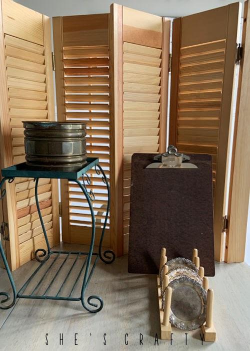 Goodwill thrift store haul - shutters, clipboards, garden supplies