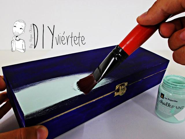 DIY-caja-madera-manualidades-marmoleado-marmolado-pinturas-Opitec-Handbox-mint-colores-vintage-5