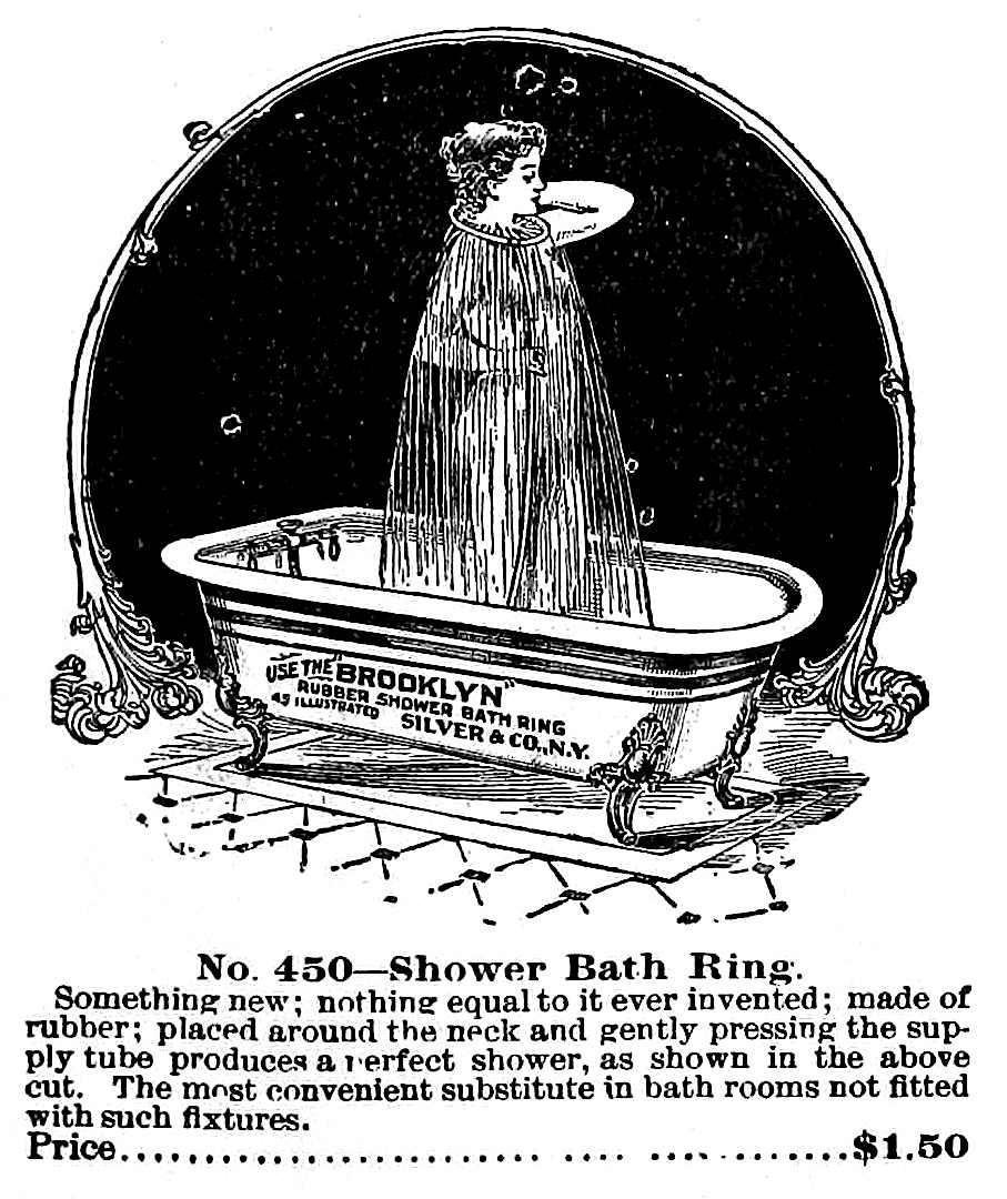 an 1895 Shower Bath Ring advertisement