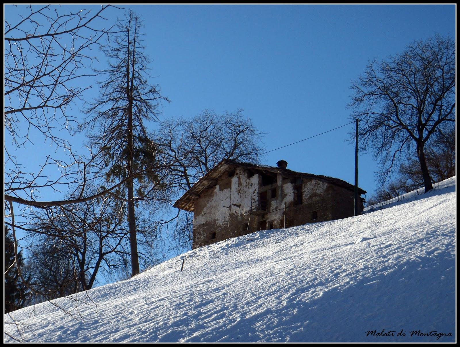 Malati di montagna san calimero in versione invernale for Piani di montagna moderni