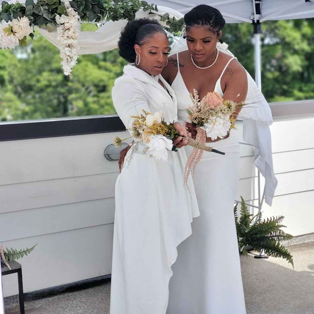 Moment Two Lesbian couples legally gets married (photos)