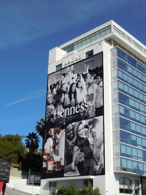 Giant Hennessy Cognac billboard Nov 11