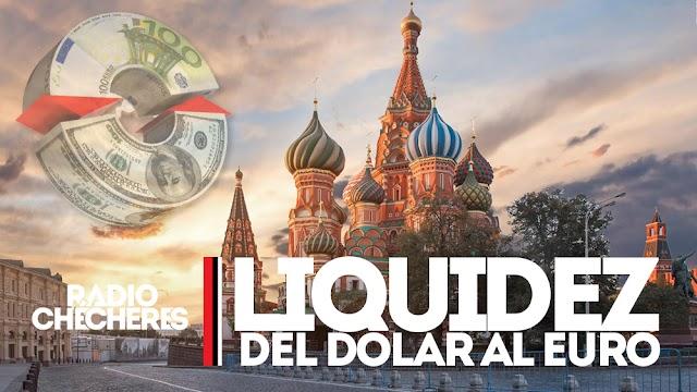 Adiós al dólar: Rusia traslada la liquidez de su moneda al euro