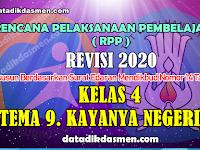 RPP KELAS 4 TEMA 9 SD/MI KURIKULUM 2013 REVISI 2020