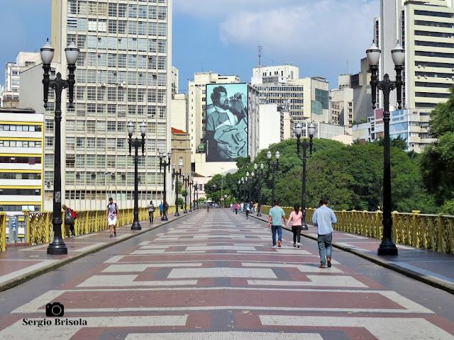 Vista ampla e atualizada (Abril de 2020) do Viaduto Santa Ifigênia - Centro - São Paulo
