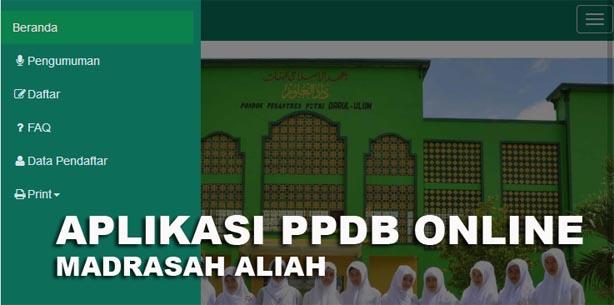 Aplikasi PPDB Online Untuk MA