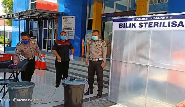 Bilik sterilisasi di Kantor Samsat Sat Lantas Polres Lumajang