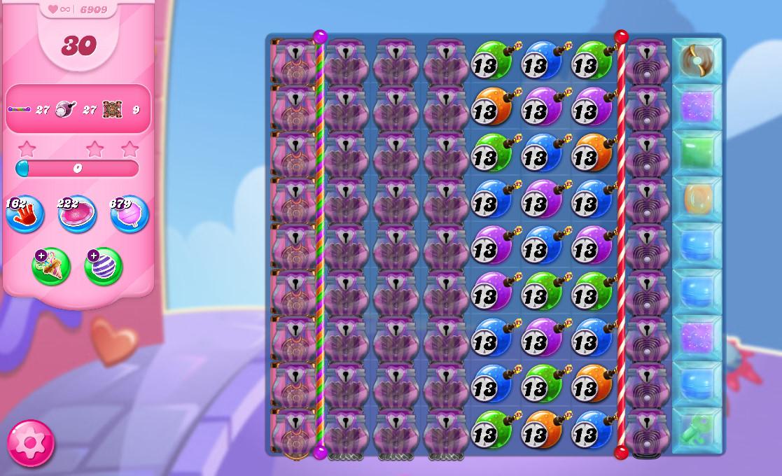 Candy Crush Saga level 6909