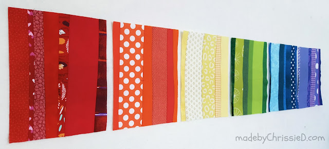 #QuiltsForPulse Rainbow Strip Stash Buster