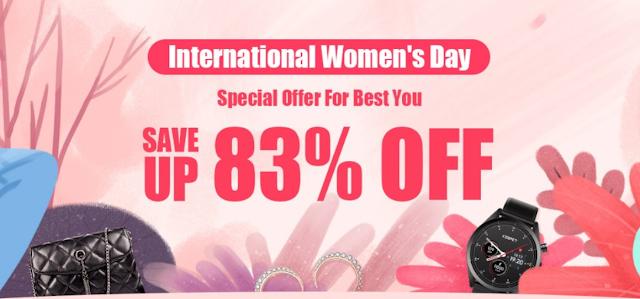 """Promoção """"Dia Internacional da Mulher"""" na Tomtop"""