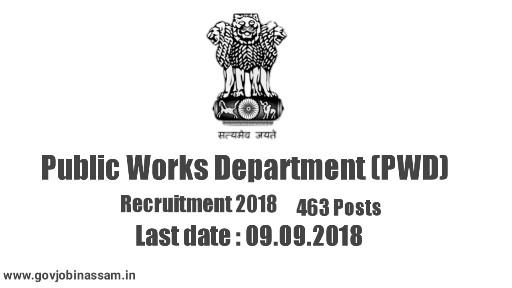 Public Works Department (PWD) Recruitment 2018,govjobinassam