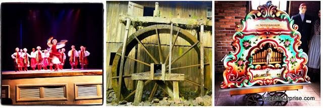 Balé ucraniamo Kalena, roda d'água de um moinho de migrantes e realejo da colônia holandesa de Castrolanda