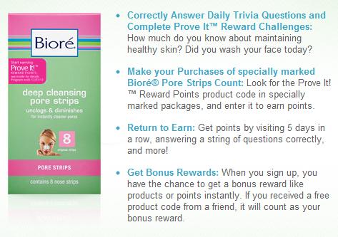 Show and Tell Meg: Bioré Prove It! Reward Points Program
