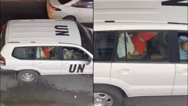 The United Nations suspends 2 officials over viral car-s.e.x video