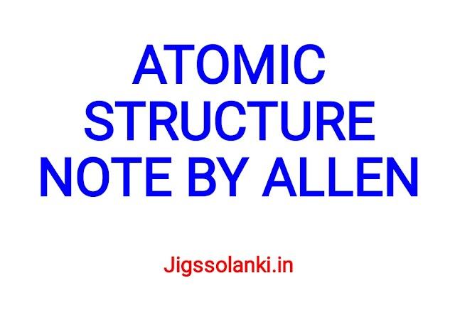 ATOMIC STRUCTURE NOTE BY ALLEN INSTITUTE
